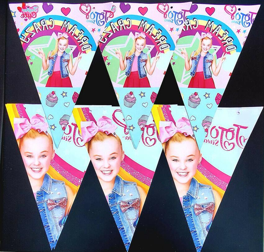 JOJO SIWA BOX CUP PARTY TABLE CUPCAKE BALLOON DECORATION BAN