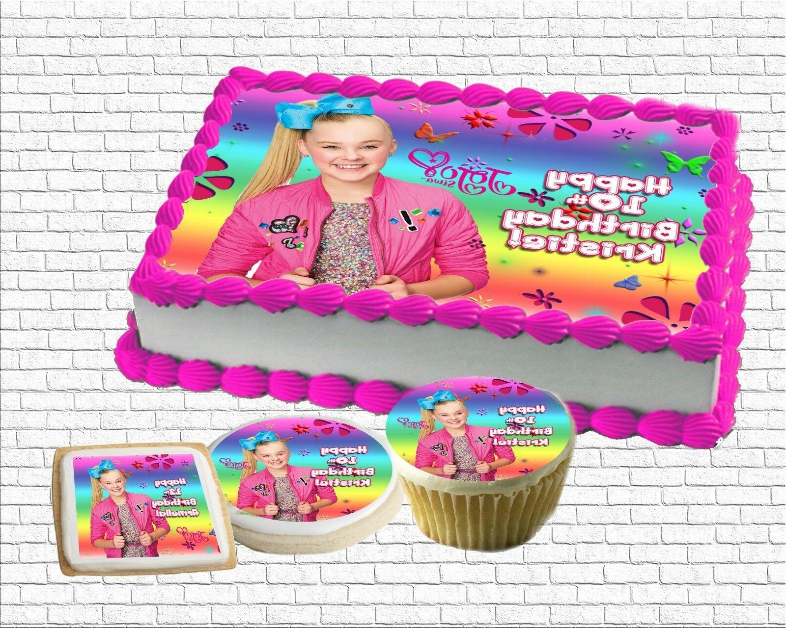 Jojo Siwa Edible Birthday Cake Topper Paper Sugar