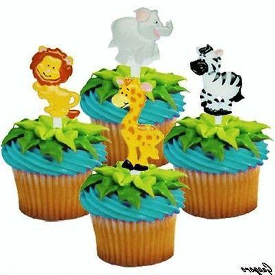 Jungle Safari Picks Animal Cake Toppers Baby Shower