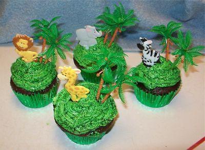 Jungle Safari Picks Toppers Birthday