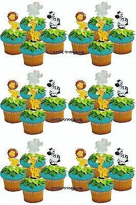 jungle safari noah s cupcake picks 24