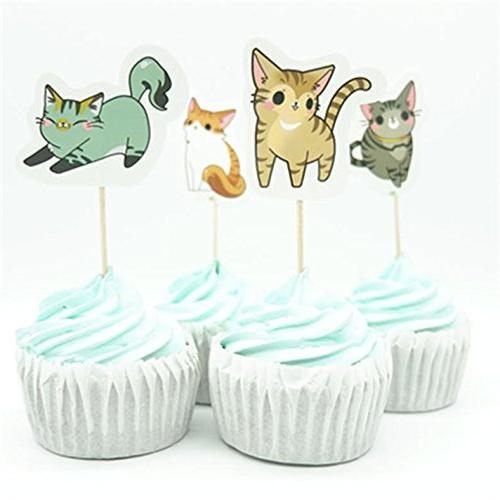 kittens cats kitty cupcake topper