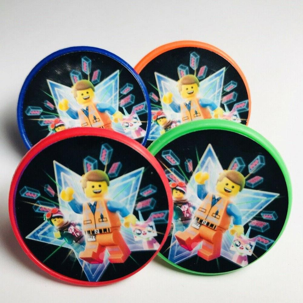 Lego Movie Cupcake Toppers Rings Birthday Party Favors - Set