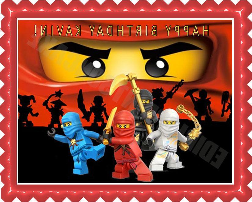 Lego Ninjago  - Edible Cake Topper OR Cupcake Topper, Decor