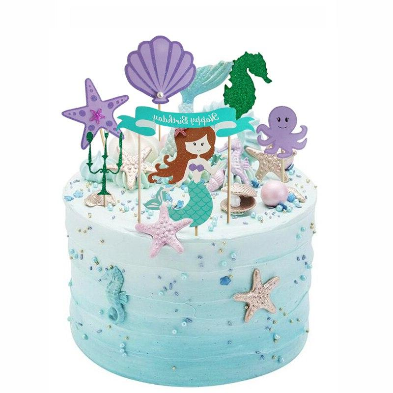 Little <font><b>Mermaid</b></font> Party Wrappers <font><b>Topper</b></font> Party Decoration Under Girl Supply