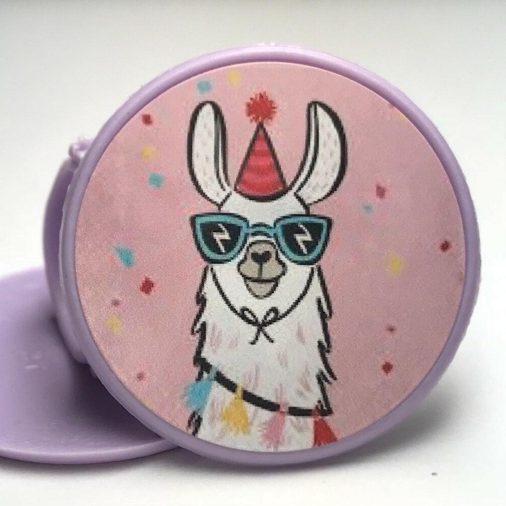 llama cupcake toppers rings birthday party favors