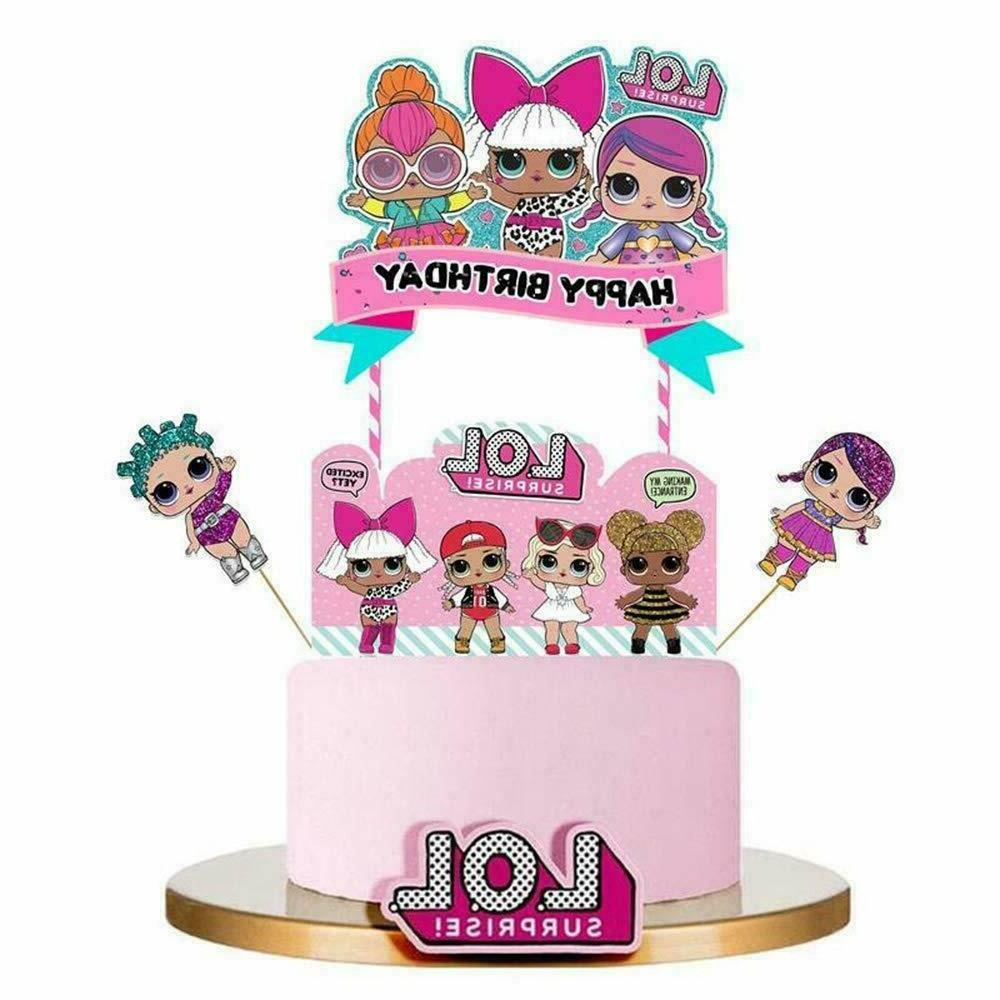 LOL Birthday Cupcake Decoration Topper Party Supply Banner