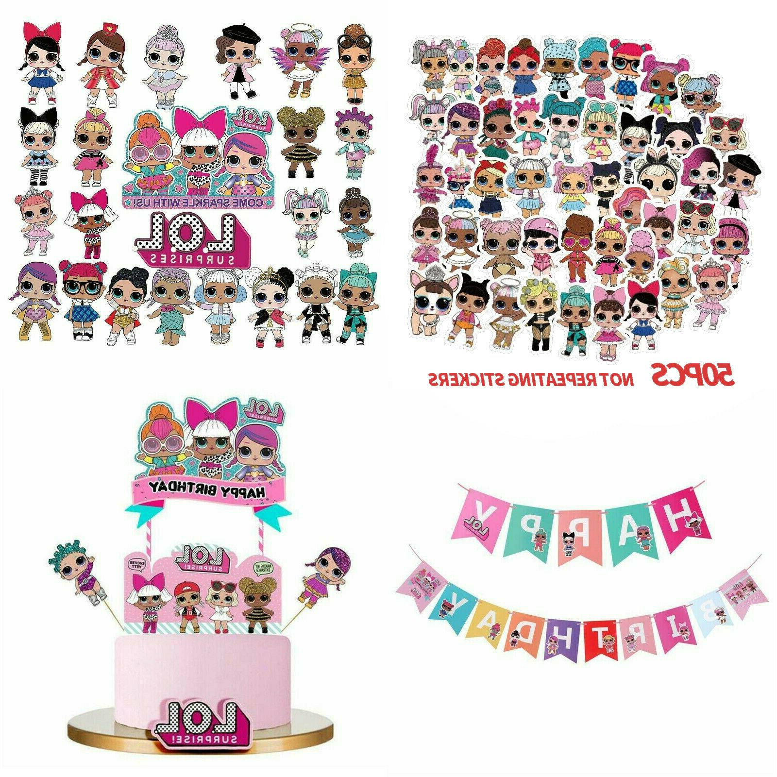 lol surprise birthday cake cupcake decoration topper