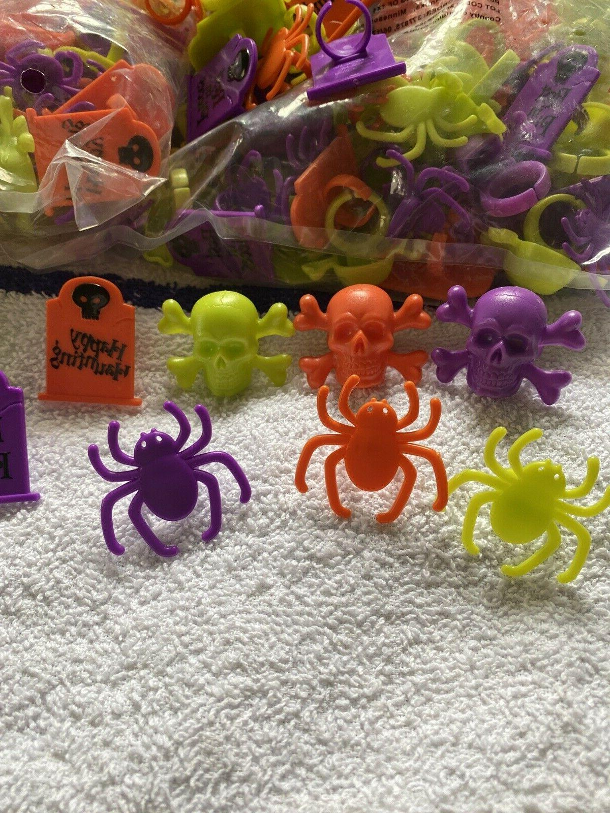 CUPCAKE DECORATIONS RING TOMBSTONE SPIDERS FREE SHIP