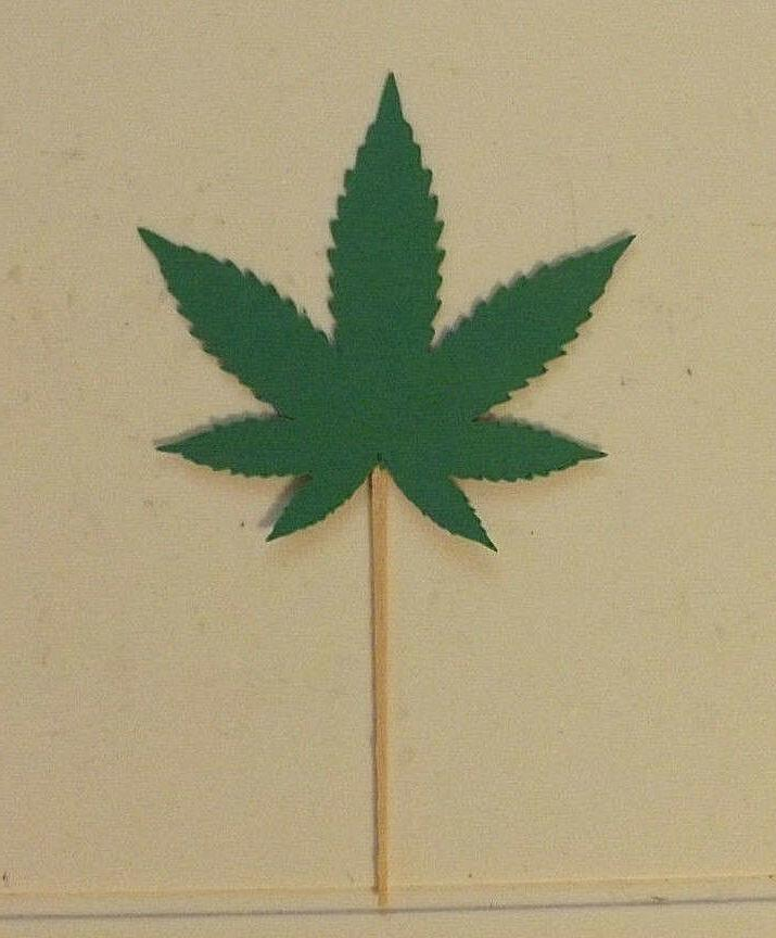 marijuana leaf cupcake toppers lot of 12
