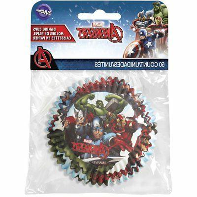 Marvel Baking 50 Marvel Avengers Fun Cupcake Toppers