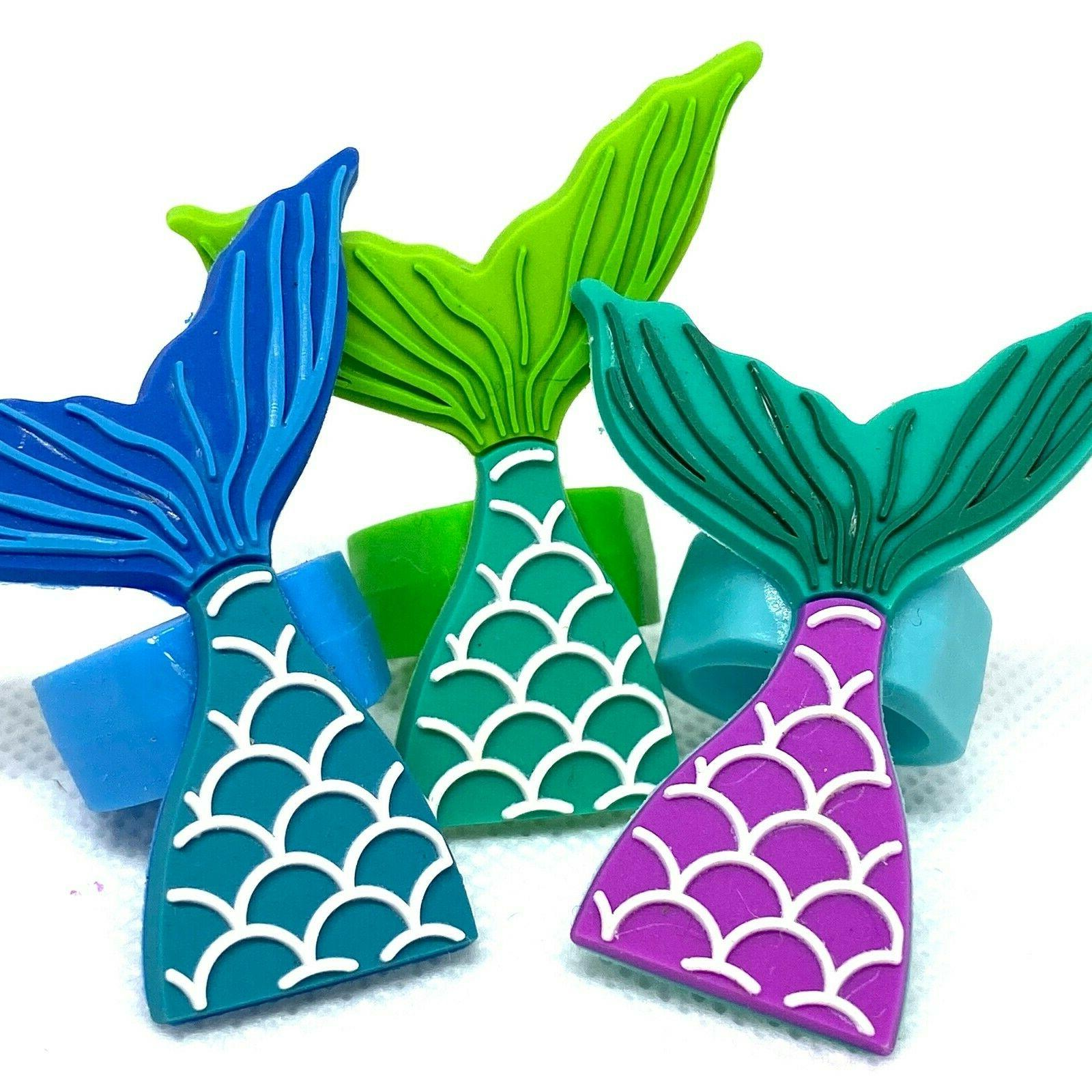 Mermaid Cupcake Toppers Cake Decorations Party Favors Set of