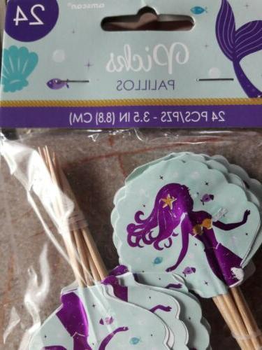 Mermaid Toppers; The Sea Birthday Cupcake 24...