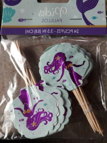 Mermaid Cupcake The Sea Birthday Cupcake Toppers 24...