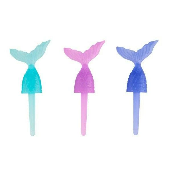 mermaid tail cupcake toppers favors birthday party