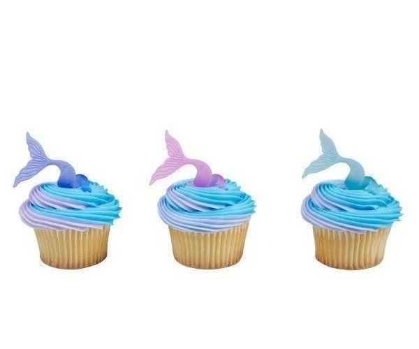 MERMAID Tail Cupcake 12 Supplies