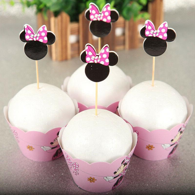 Minnie Kid's Cupcake Wrapper+Topper Set of