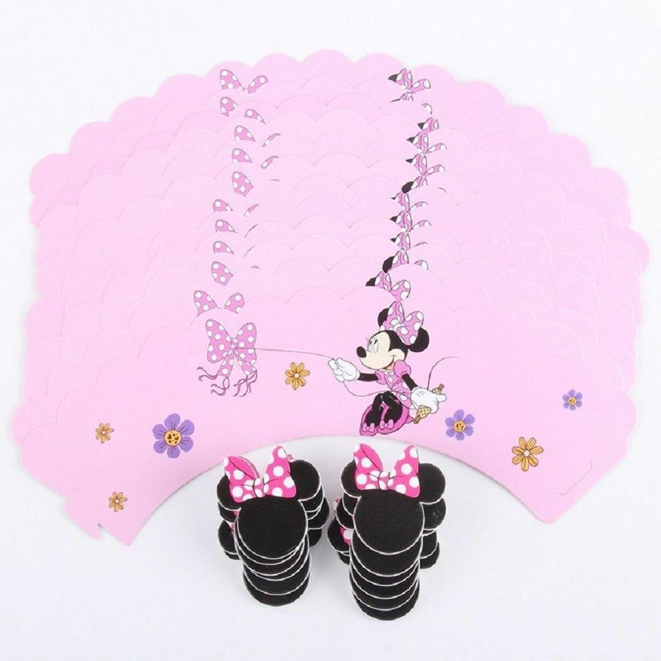 Minnie Mouse Pink bow Kid's Cupcake Set of
