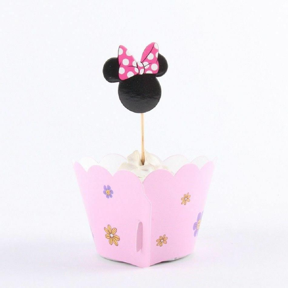 Minnie Mouse Pink Kid's Cupcake Set Dozen