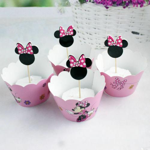 minnie mouse pink bow kid s cupcake