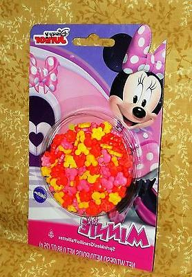 Minnie Sprinkles,Candy Toppers,Edible,Wilton.710-4615