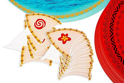 Moana Cupcake Toppers Wrappers Hawaiian Cake Decorations