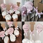 Mother&Fabulous Baby Girl Cupcake Toppers Its A Girl &Hello