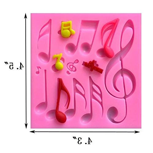 Sakolla(Set Note Lace Silicone Fondant Tool Candy Tool Cupcake Topper