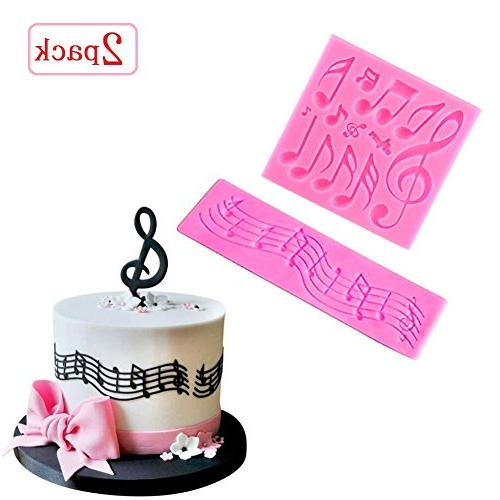 multi music note lace silicone