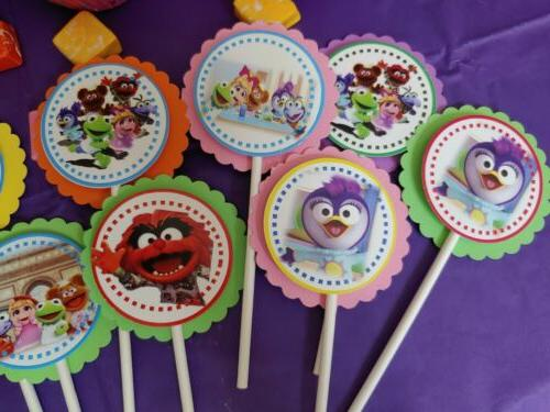 Muppet party,round,multicolor,24