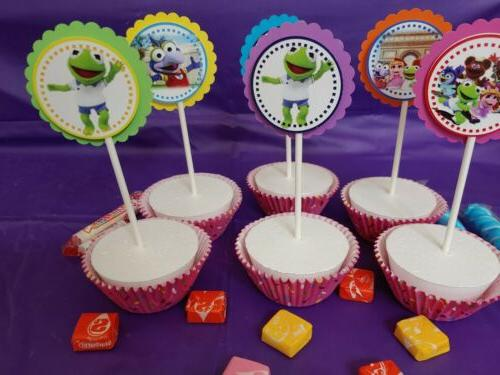 Muppet cupcake party,round,multicolor,24 paper