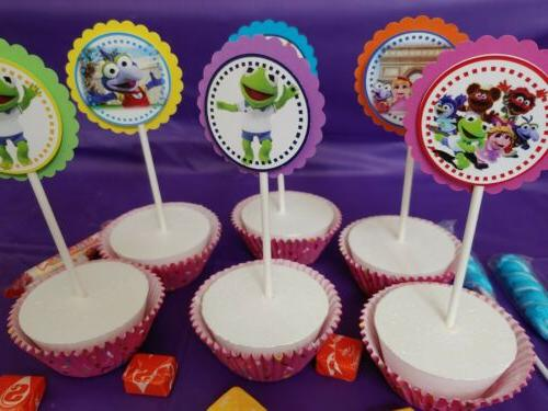 muppet babies cupcake toppers girl party round