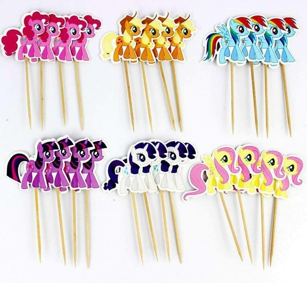 My Little Pony Cartoon Cupcake toppers picks,Party party 24pcs