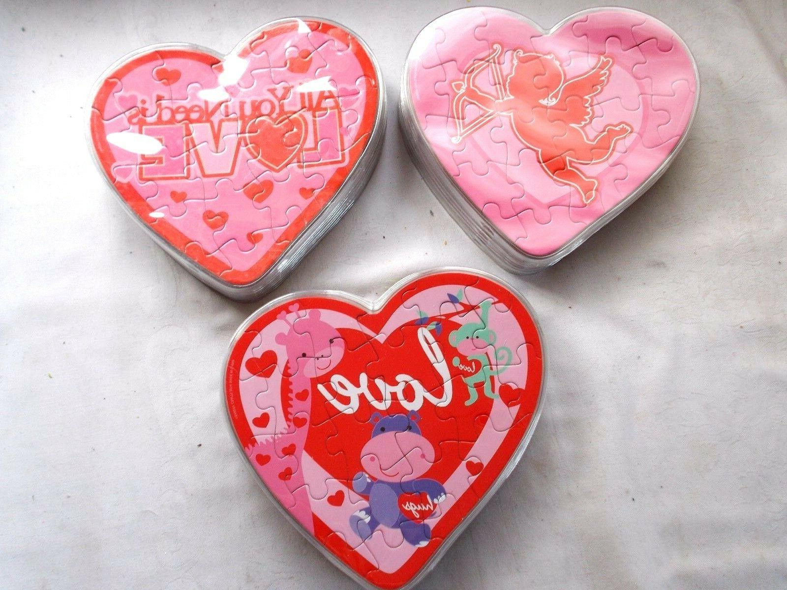 new 20 valentine puzzle cake cupcake toppers