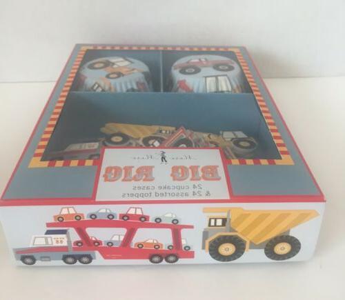NEW! Meri RIG TRUCKS Cupcake Kit 24 Cupcake & 24
