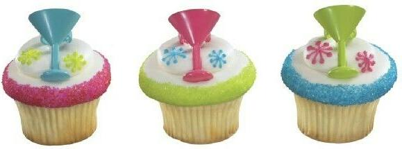 new cake toppers cocktail time cupcake rings