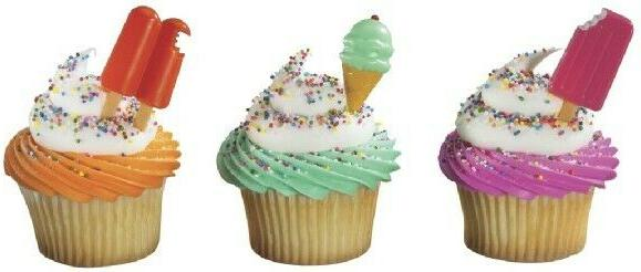 new cake toppers summer treats cupcake picks