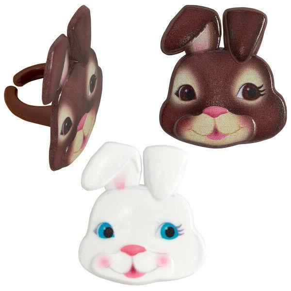 New Cute Faces Cupcake Rings