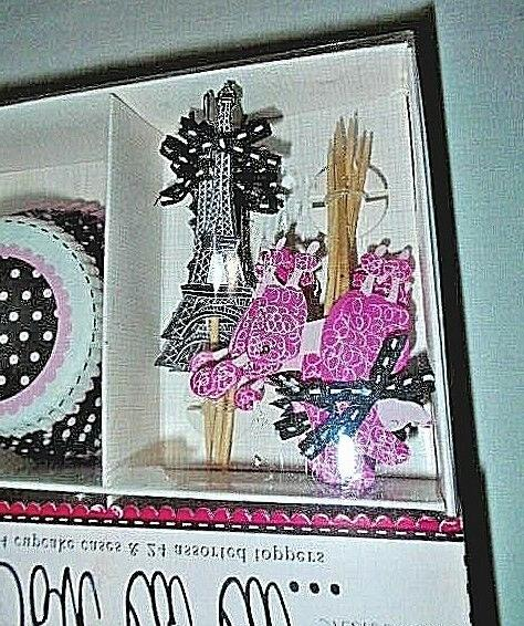 NEW La La French Paris Cupcake Kit 24 Toppers Poodle Eiffel Tower