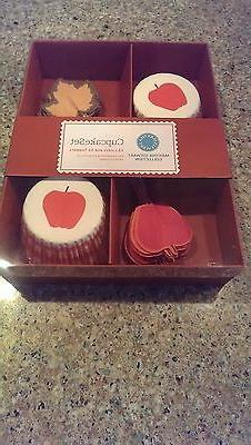 NIP MARTHA STEWART COLLECTION CUPCAKE SET 25 LINERS, TOPPERS