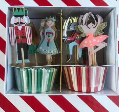 nutcracker cupcake kit set includes 24 cupcake