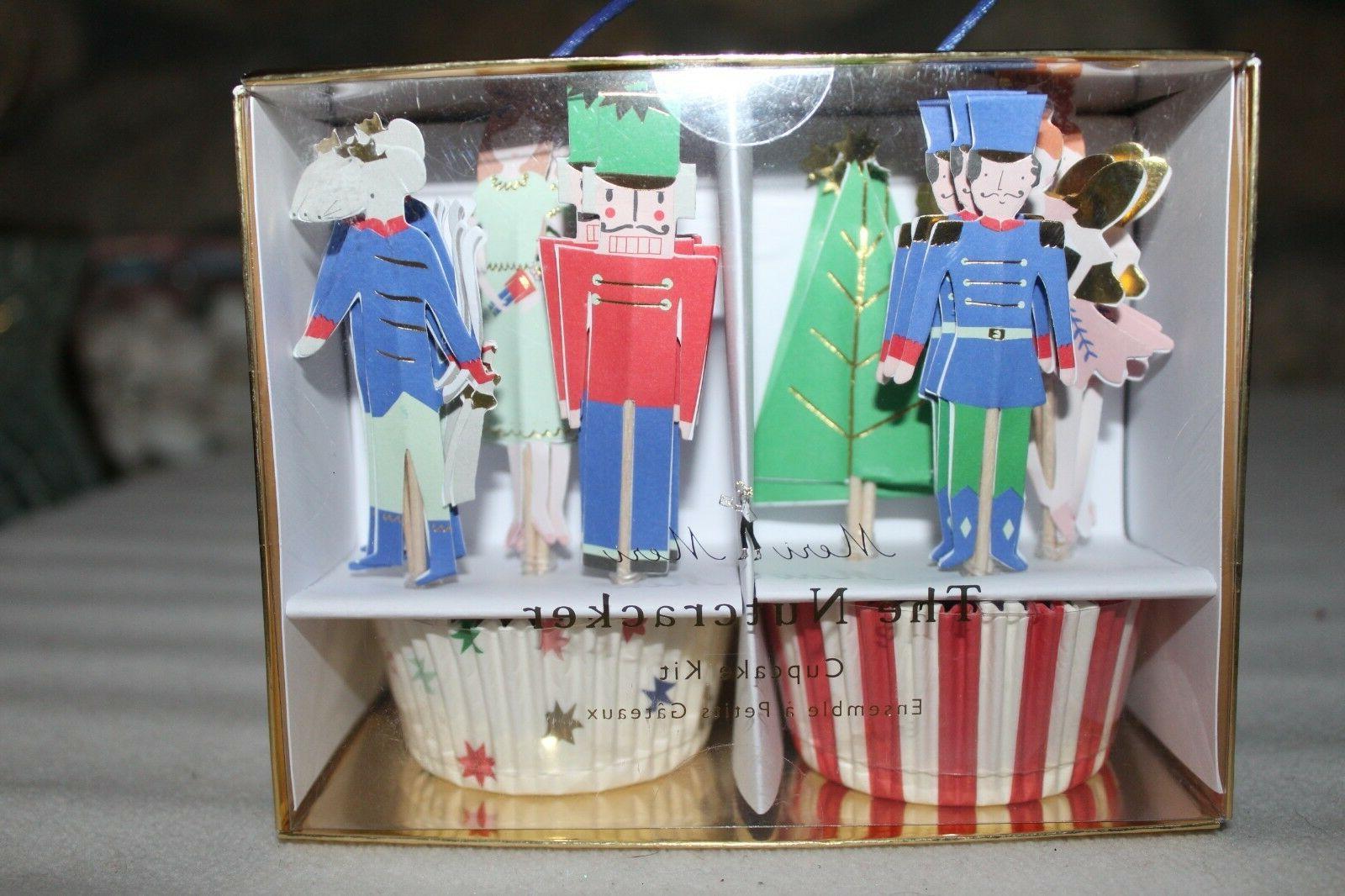 Meri Meri Nutcracker Cupcake Kit Toppers Christmas Liners