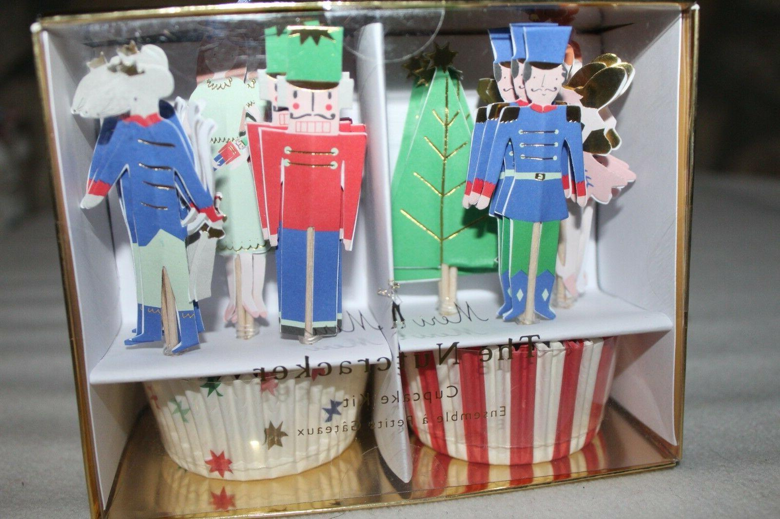 nutcracker cupcake kit toppers party picks christmas