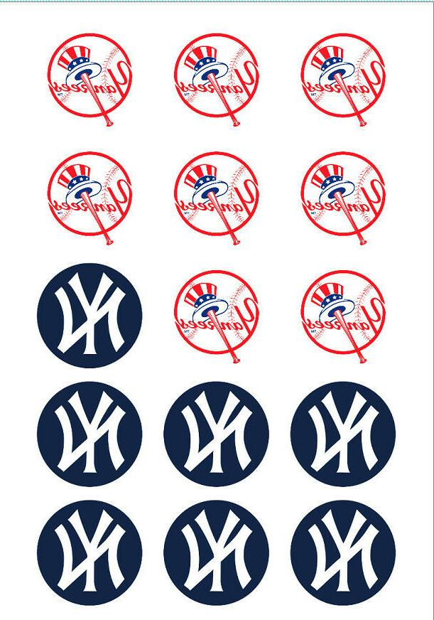 NY Yankees Edible Print Premium Cupcake/Cookie Toppers Frost