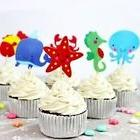 Ocean Themed Cupcake Toppers Picks Sea Life Creatures Crab W