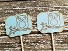 Owl Cupcake Toppers 25 Blue Food Picks Cake Top Baby Shower