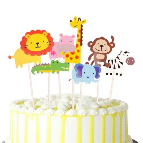 Paper Topper Shower Happy Party Cupcake Dessert Decor