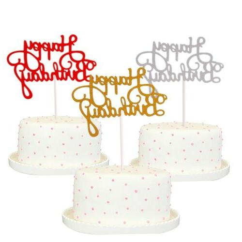 30PCS Happy Cake Dessert Decor Supplies