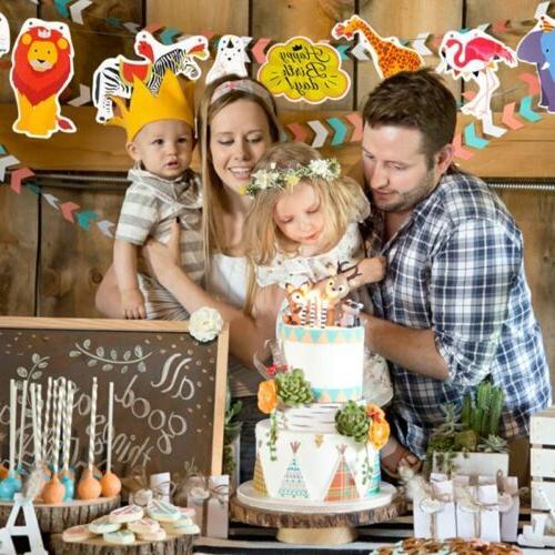 Paper Cake Topper Baby Shower Happy Cupcake Dessert