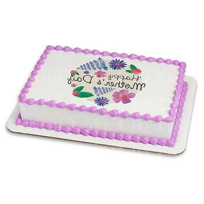 Pastel Happy Mother's Day ~ Frosting Sheet Cake Topper ~ Edi